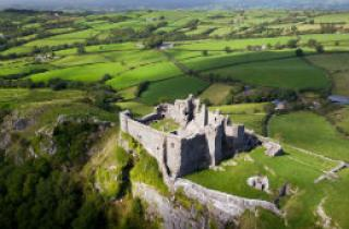 Ariel view of Carreg Cennen Castle