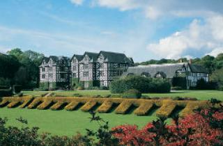Gregynog Hall and it's landscaped gardens