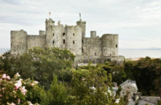 A view of the towering Harlech Castle