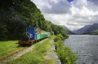 The steam engine of the Llanberis Lake Railway