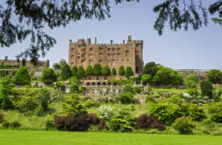 Powis Castle and the surrounding gardens