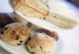 Afternoon tea with sandwiches and scones