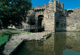 Picturesque Beaumaris Castle on Anglesey