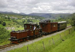 Brecon Mountain Railway with fantastic views in the background