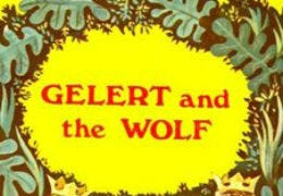 A section of my Gelert and the Wolf book cover