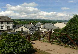 A view of Hay on Wye from the castle