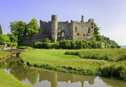 Laugharne Castle on a summers day