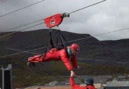 Our office manager Laura on Zip World Velocity