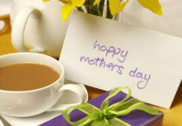 A present mother's day and a lovely cup of tea