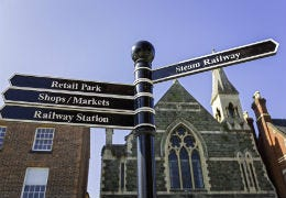 Highstreet signs at Welshpool