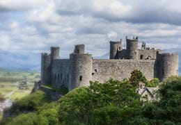 Harlech Castle in North Wales