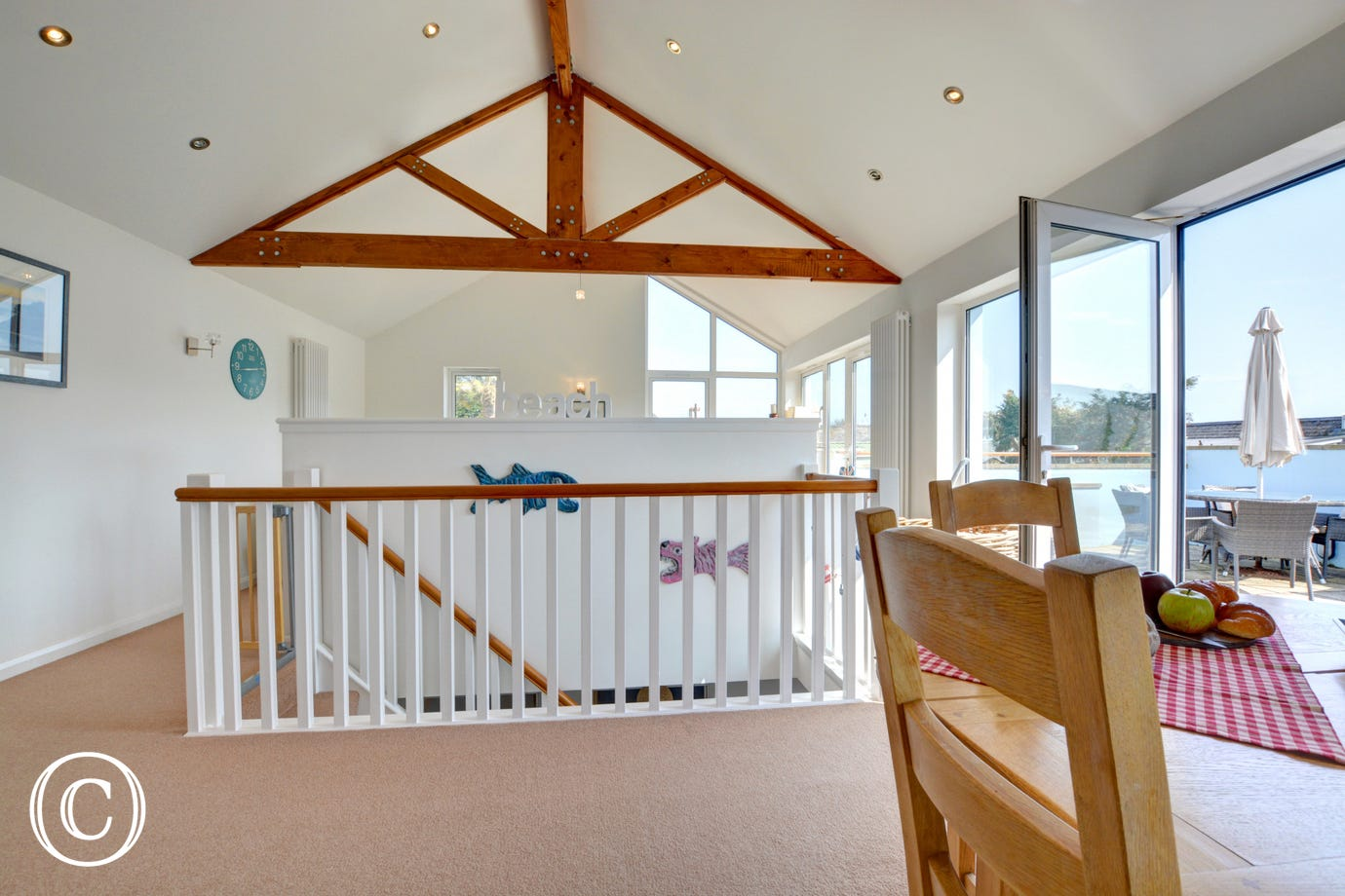 With apex wooden beams in the main living space adding character to this great holiday property