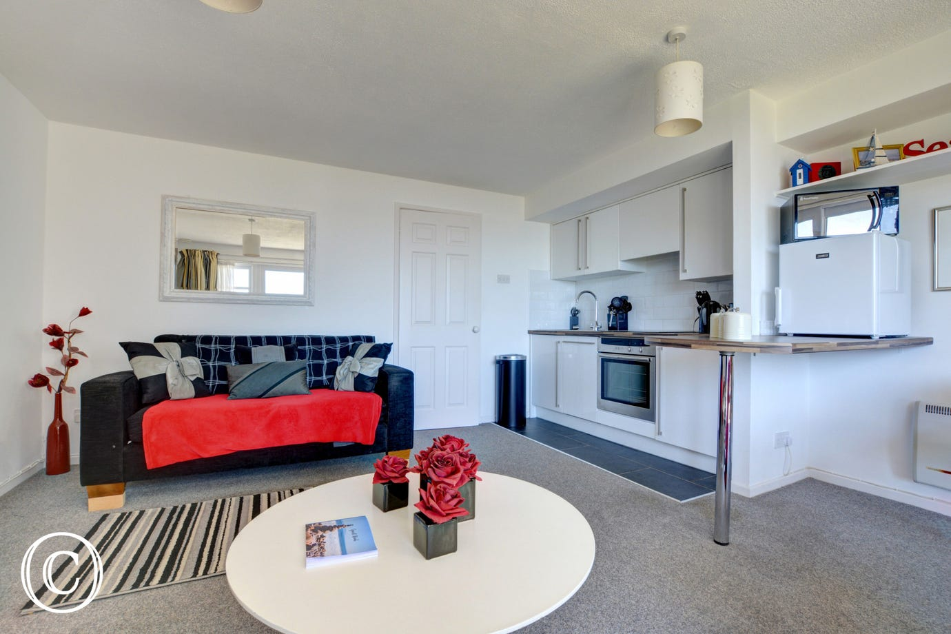 Open plan living in this ground floor holiday apartment