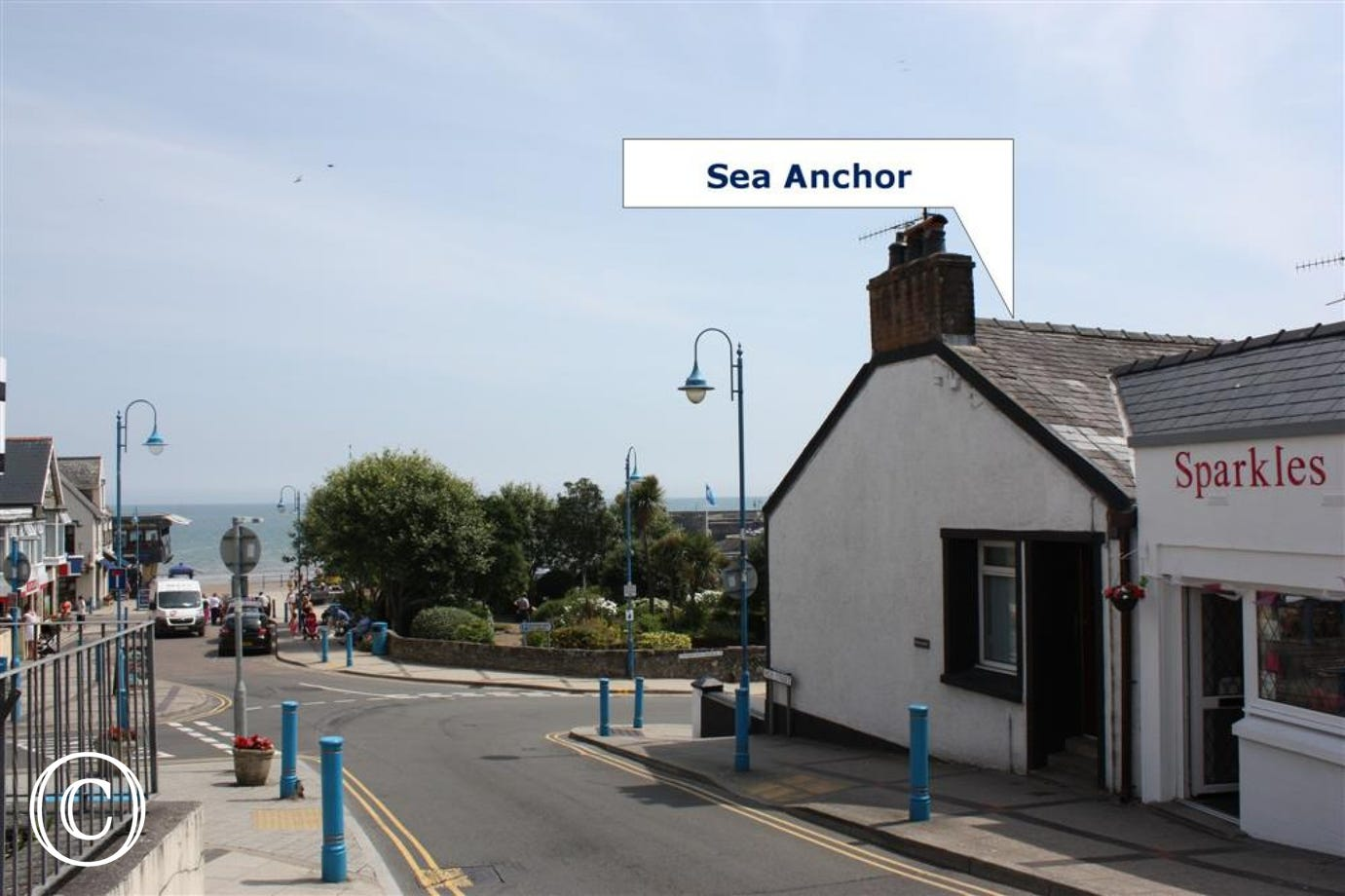 Sea Anchor is right in the heart of the village, just a stone's throw from the beach