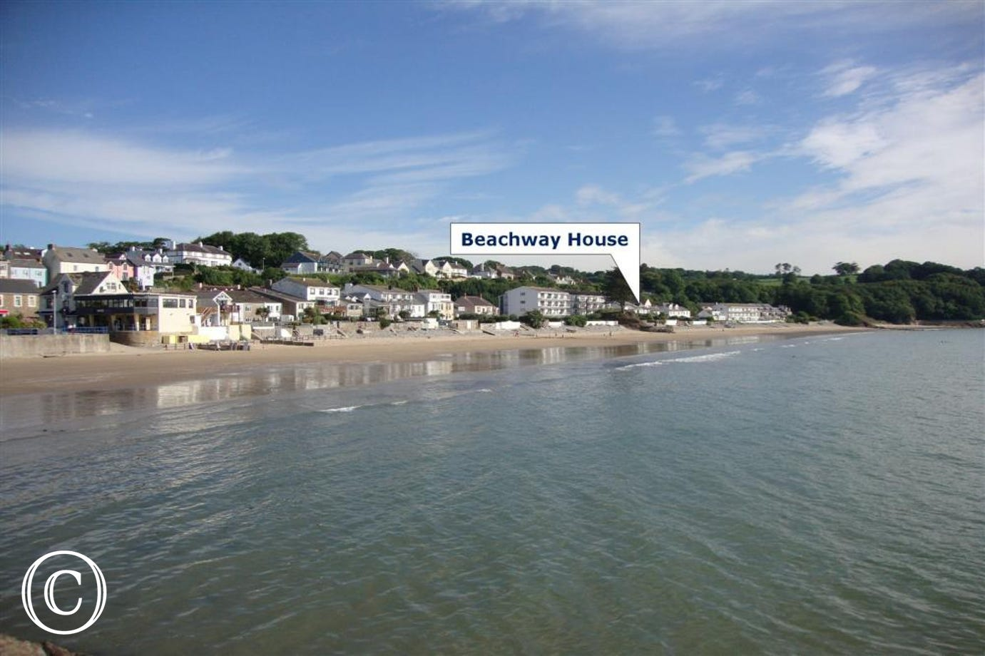 Beachway House set right on the golden sands at Saundersfoot