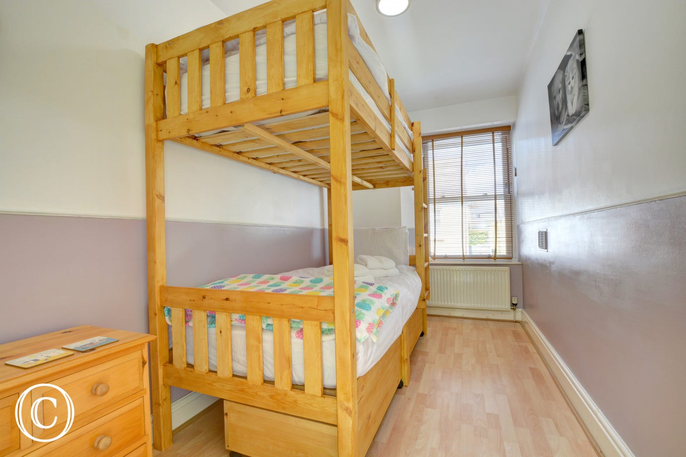 Bunk beds ideal for the children