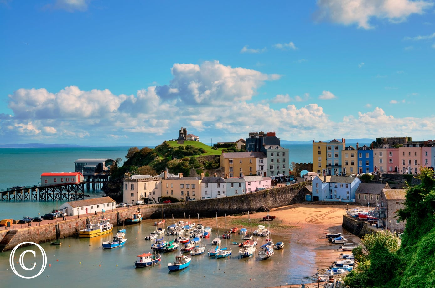 Tenby town attracts lots of visitors throughout the year due to its beauty