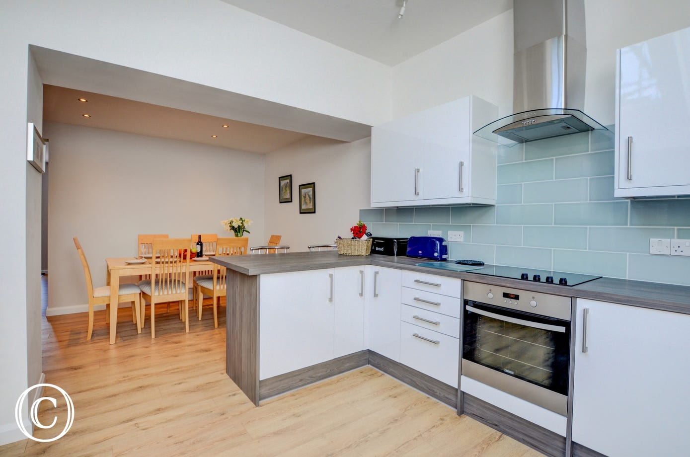 With an open plan kitchen/diner, you can still interact with your friends and family whilst preparing your meals
