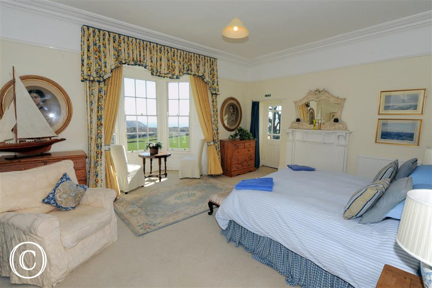 Master bedroom suite with Stunning views from the bay window!