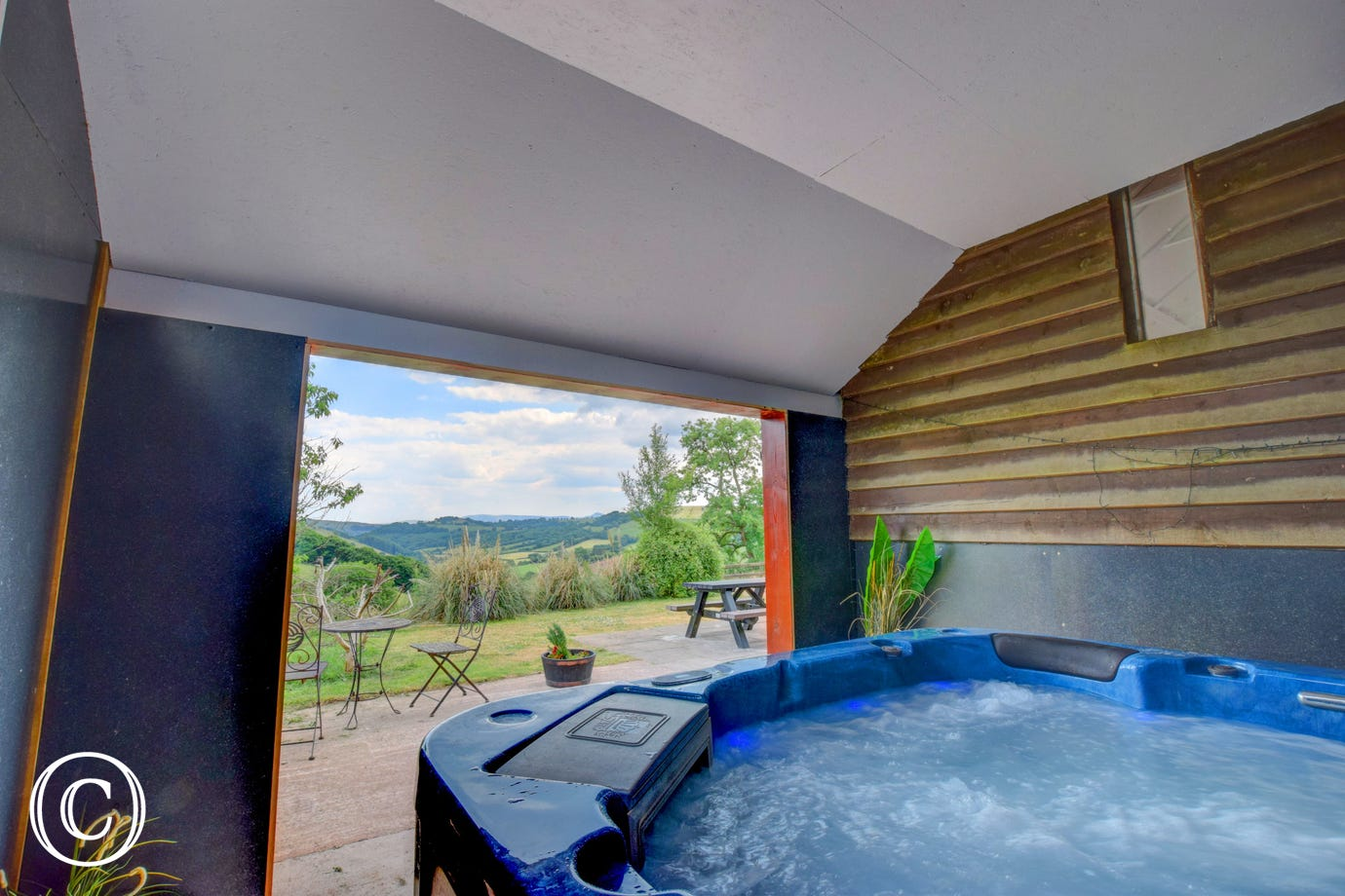 view from one of the hot tubs