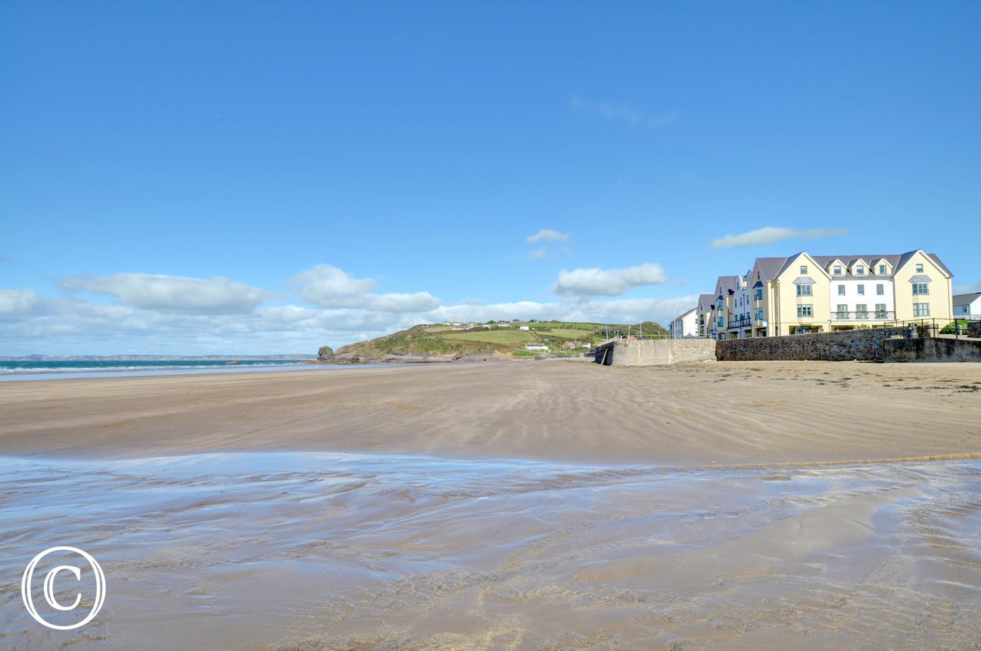 32 St Brides Bay View is an apartment located right on the seafront at Broad Haven