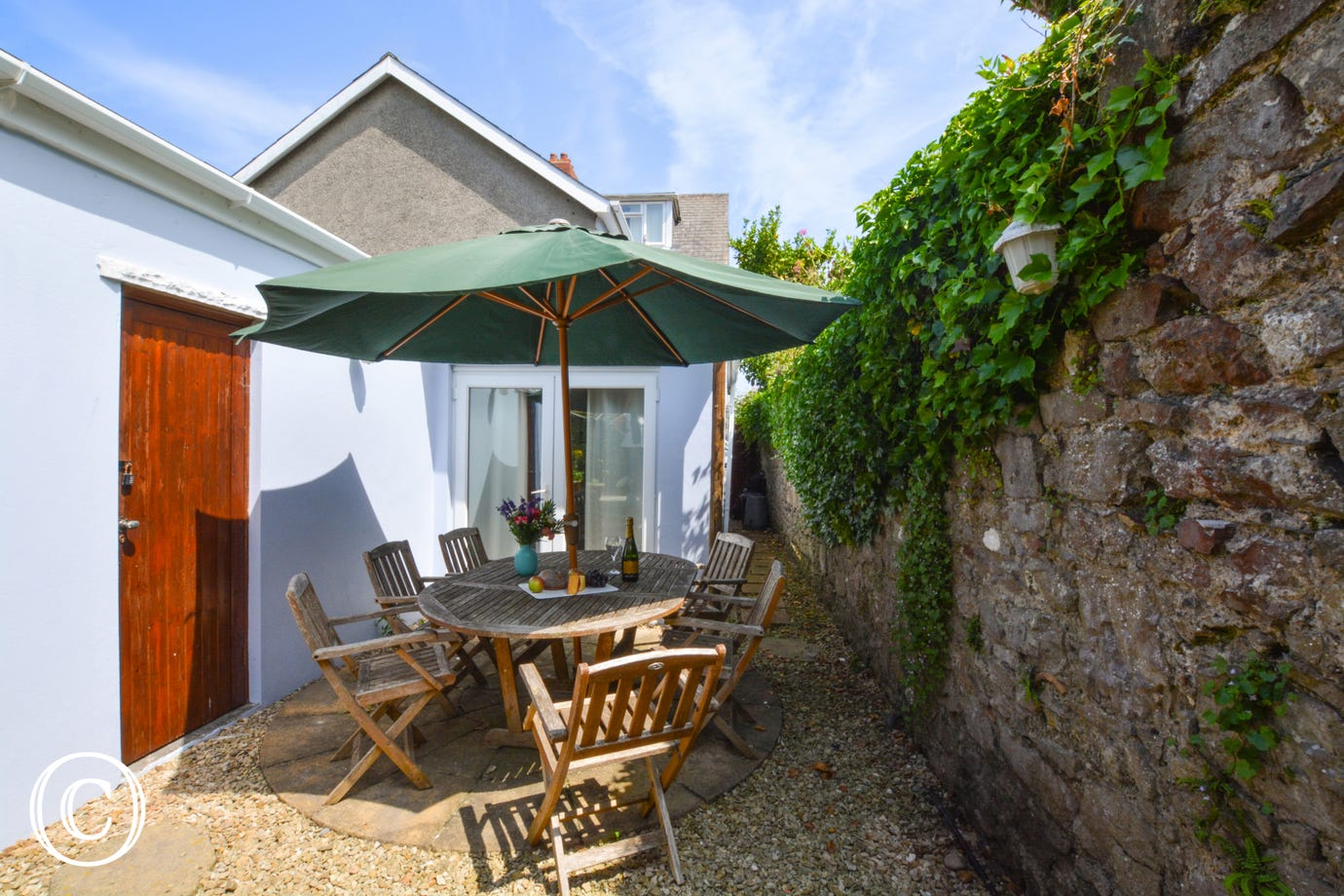Outside space at this Tenby holiday home
