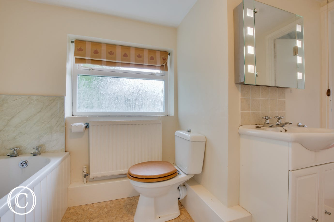 Self catering accommodation with family bathroom.