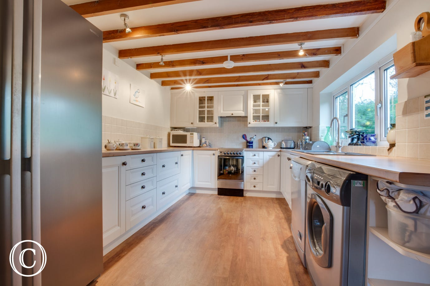 Newly fitted kitchen at this cottage full of character.