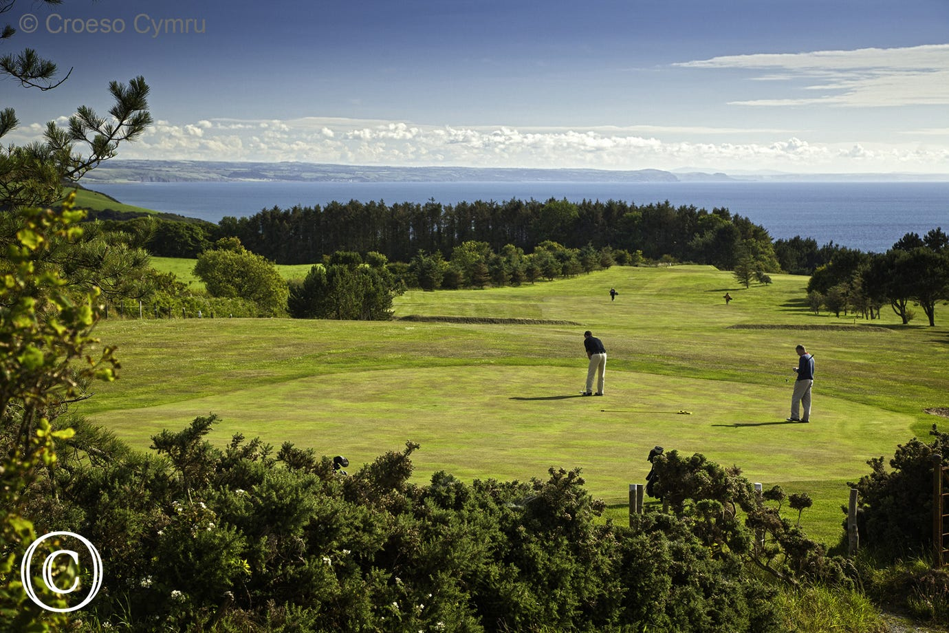 Enjoy the views from Aberystwyth Golf Course
