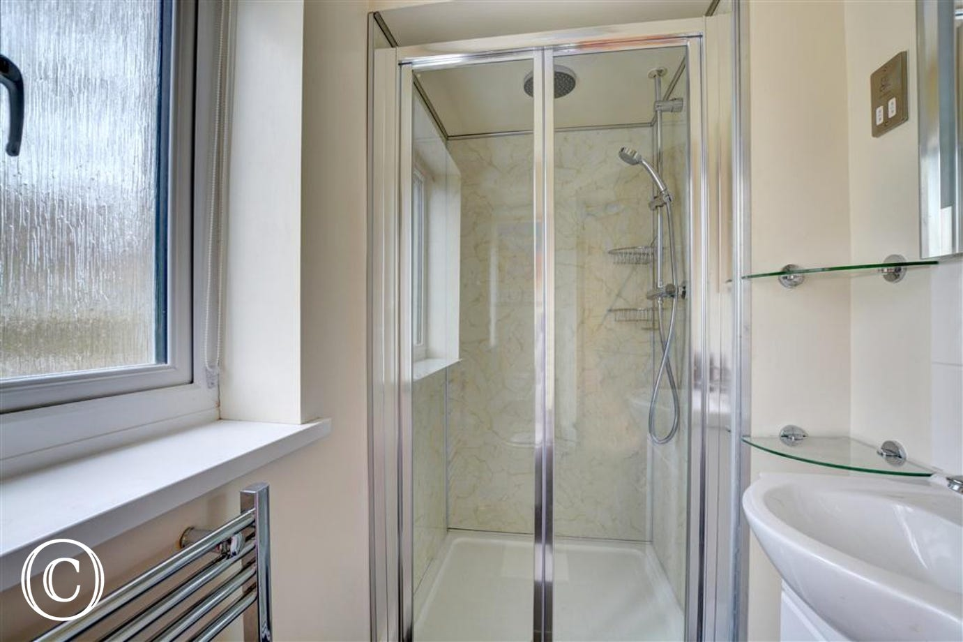 Ensuite shower room with wc and whb