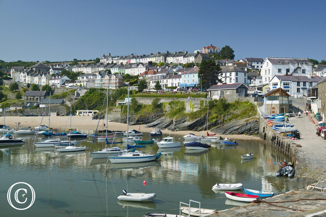 New Quay seaside town is just 7 miles away.