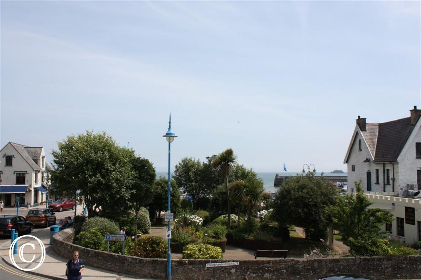 Super views across the Sensory Garden and of Saundersfoot bay and harbour
