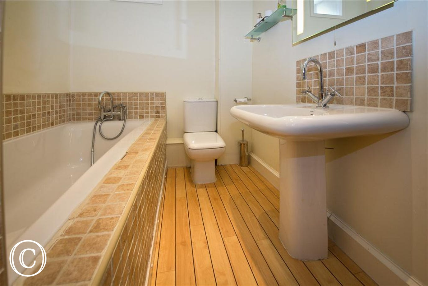 Family bathroom with bath and separate shower