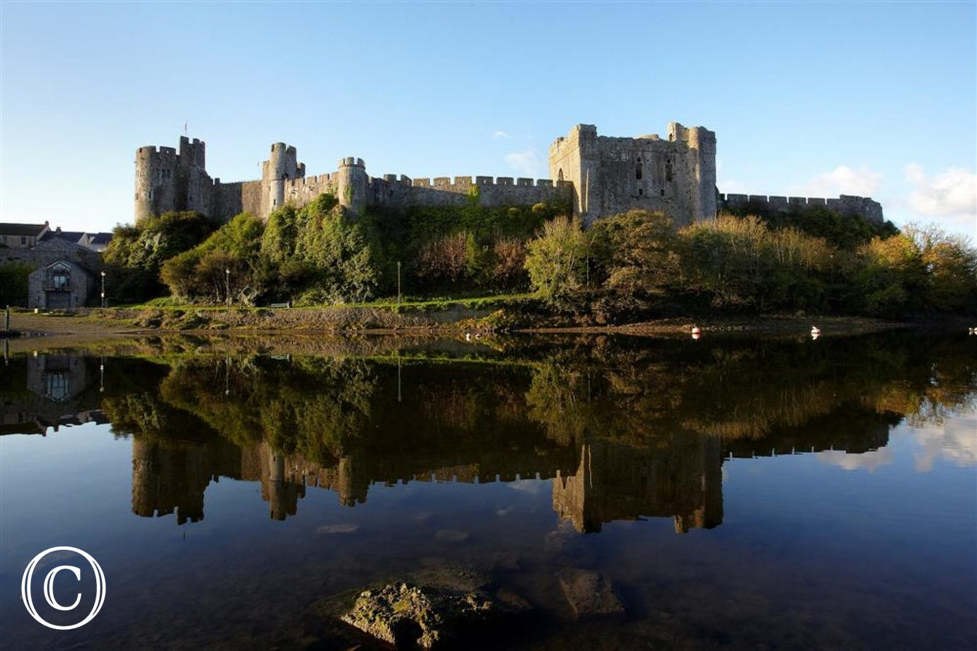 Pembroke Castle, which is just down the road, birthplace of Henry VII