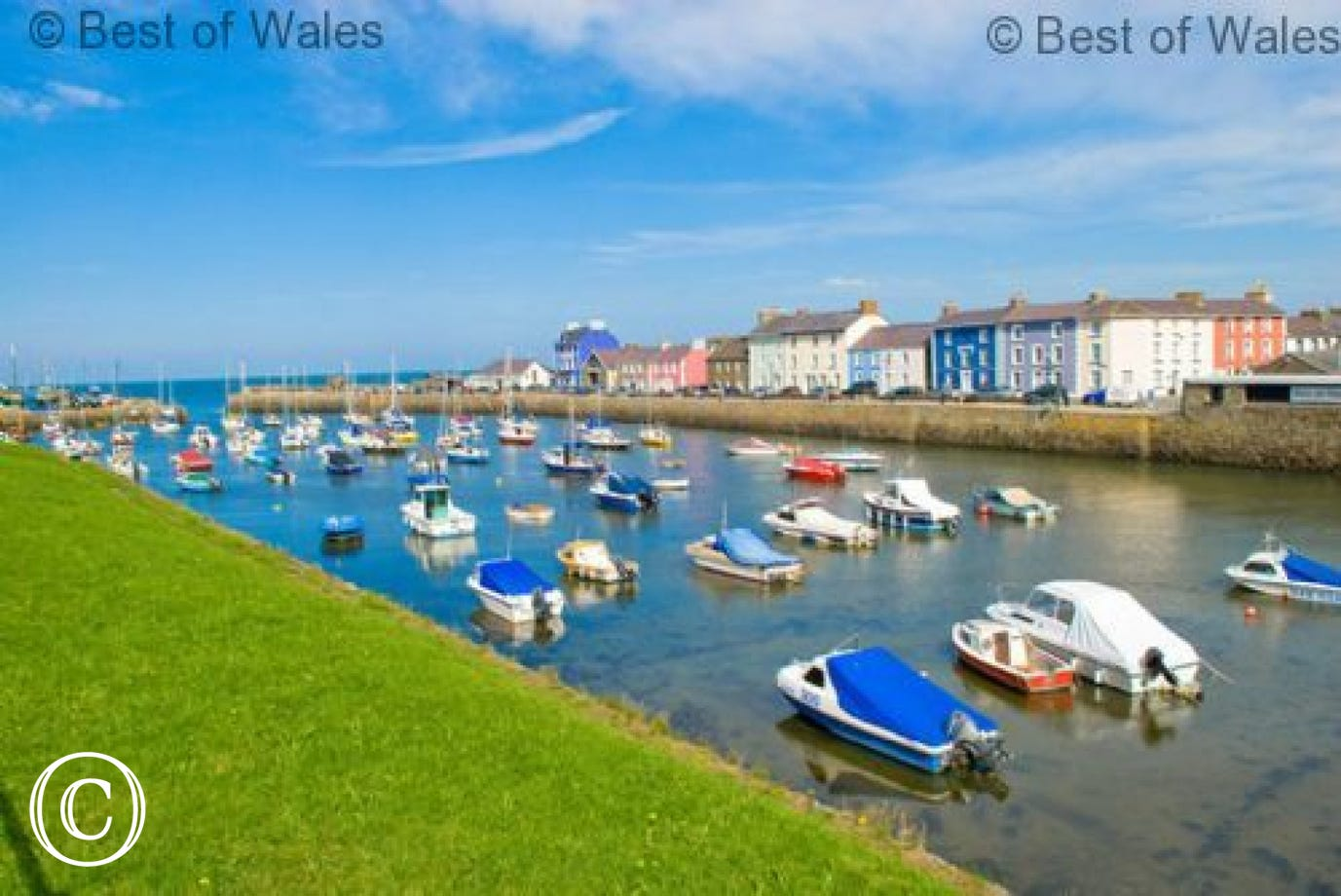 Coastal town of Aberaeron, a 45 minute drive from Bwthyn Iorwg