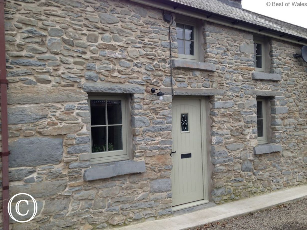 Traditional terraced stone cottage