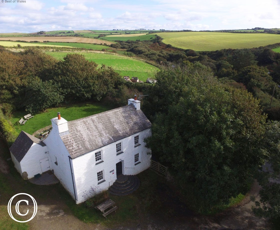 Abercastle Holiday Cottage aerial view