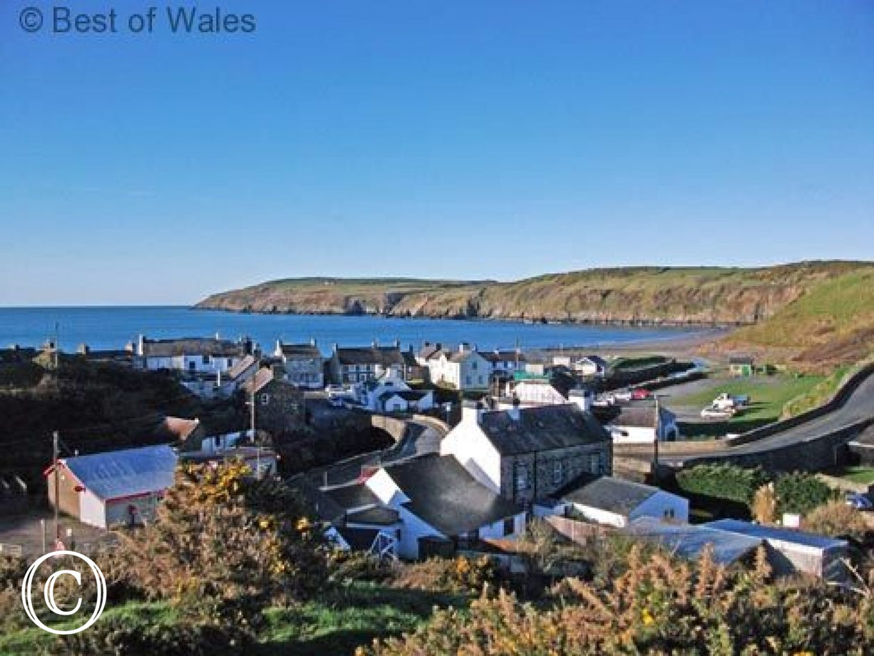 The picturesque seaside village of Aberdaron on the Llyn Peninsula