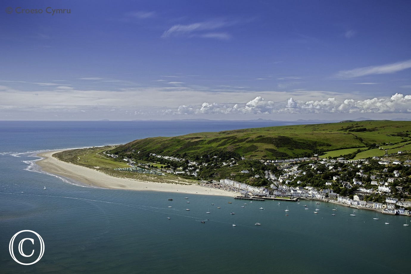 Walk the Coastal Path from Aberdyfi to Tywyn along a 5 mile beach