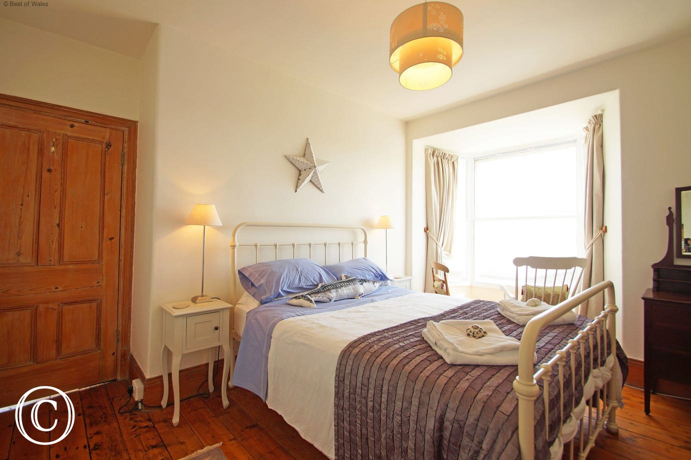 First Floor - Front bedroom at Rhianfa self catering in West Wales