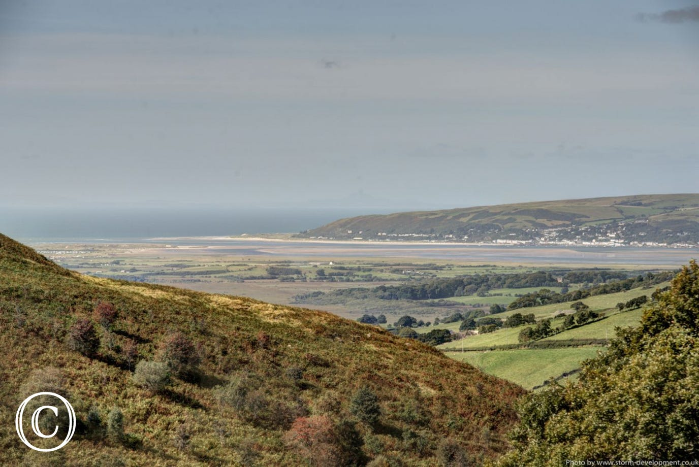 Beautiful view towards Ynys Las and Aberdyfi on the other side of the estuary. Photo by Storm Development