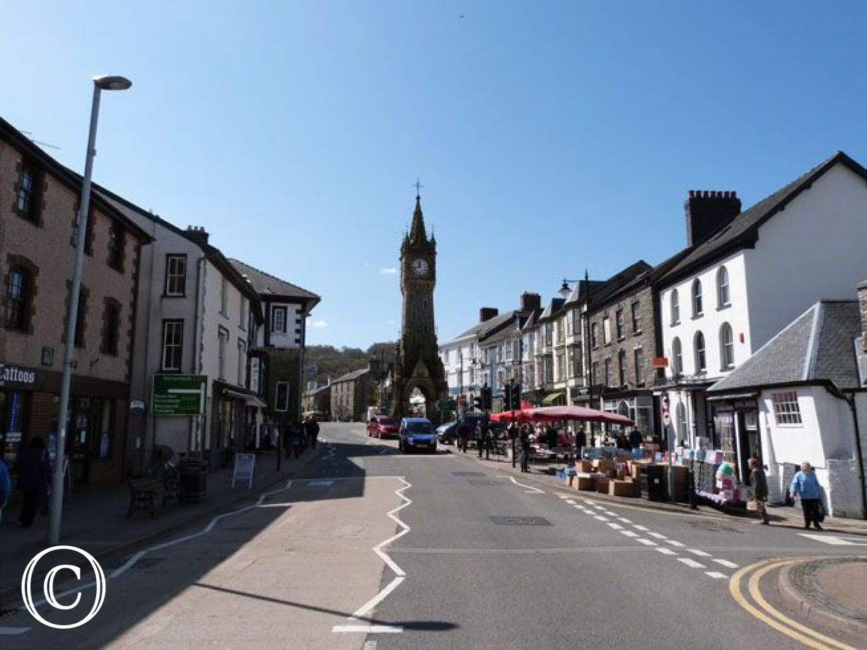 Machynlleth - the Ancient Capital of Wales, 9.5 miles up the road