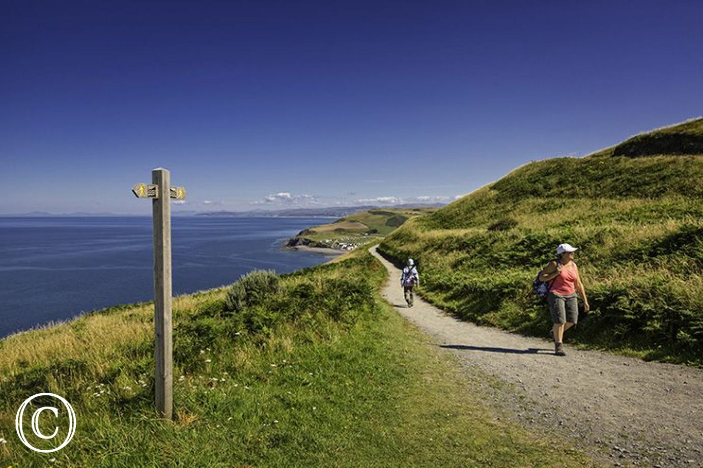 The All Wales Coast Path can be joined at Tre'r Ddol, 1 mile from the cottage