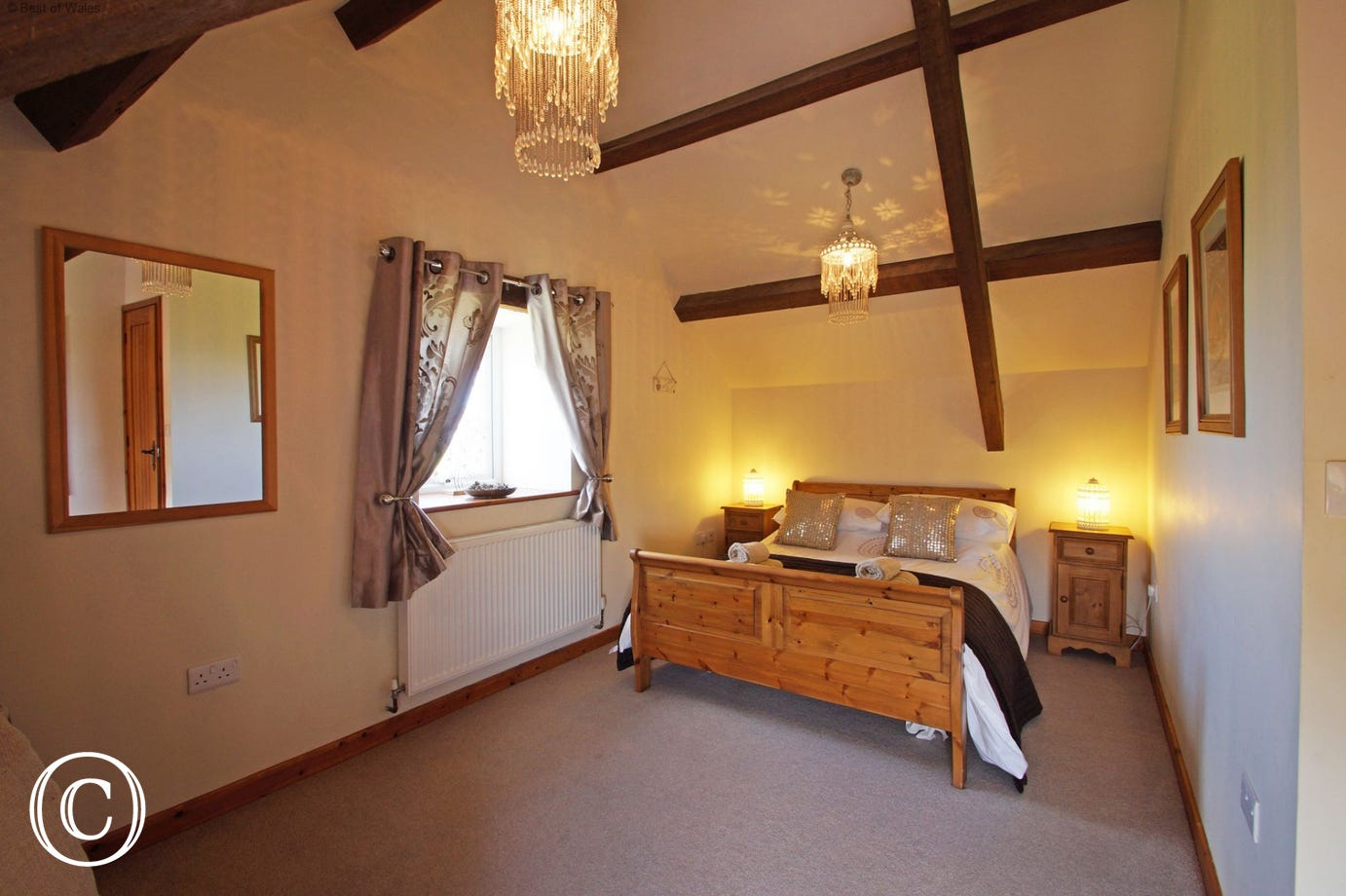 Bedroom 2 - Upstairs double room with stunning views