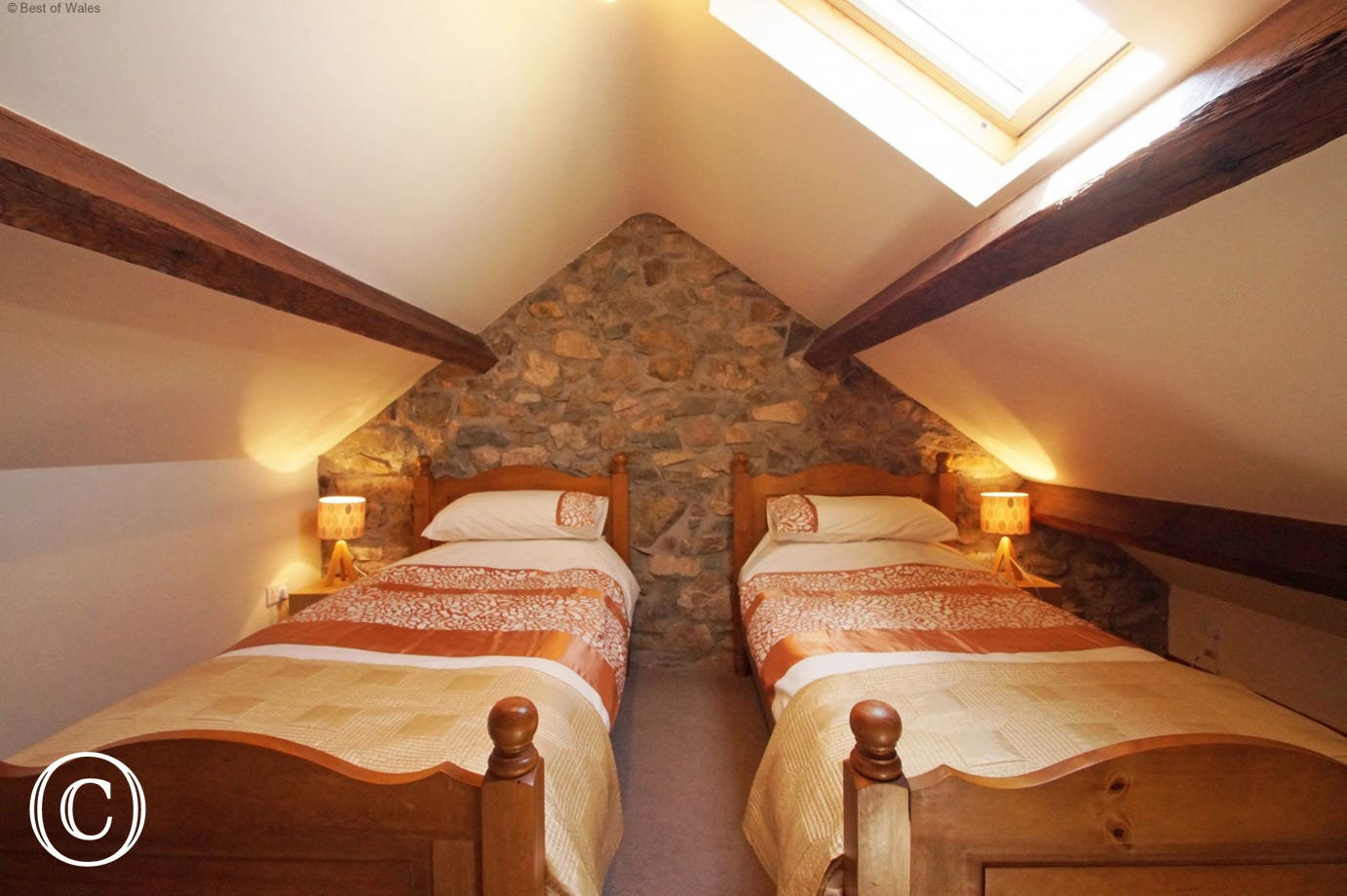 Bedroom 3 - Traditional 'crogloft' with twin beds - accessed via the snug room
