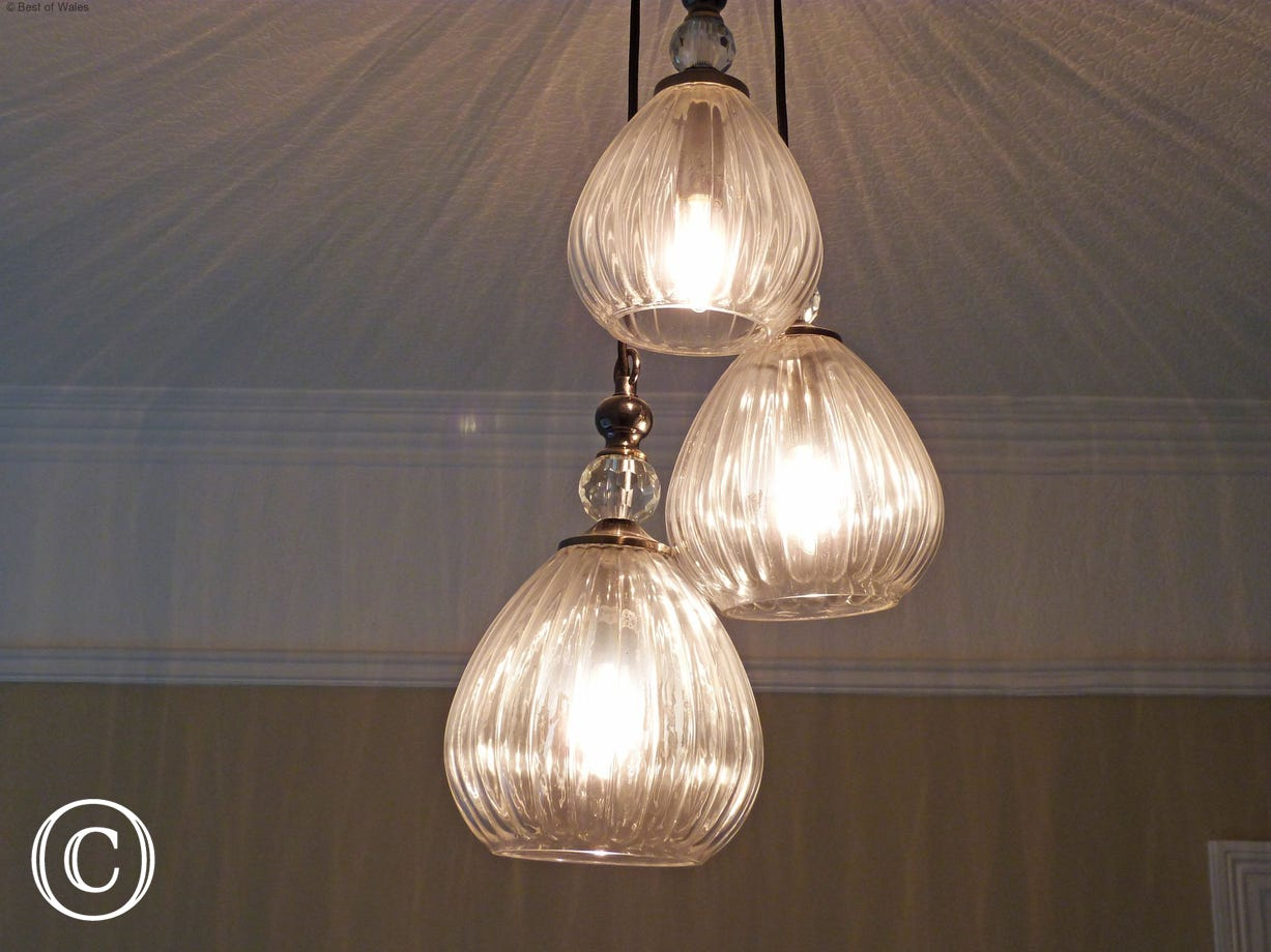 Beautiful features including this stylish chandelier