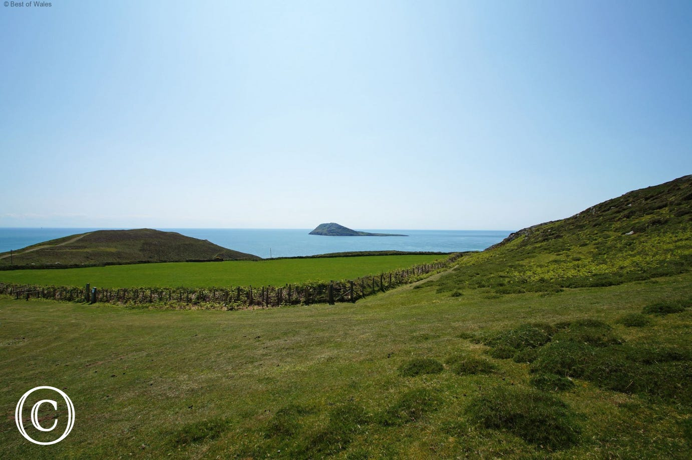 Bardsey Island (Ynys Enlli) - a little further along the coastal path - can also be visited by boat from Porth Meudwy