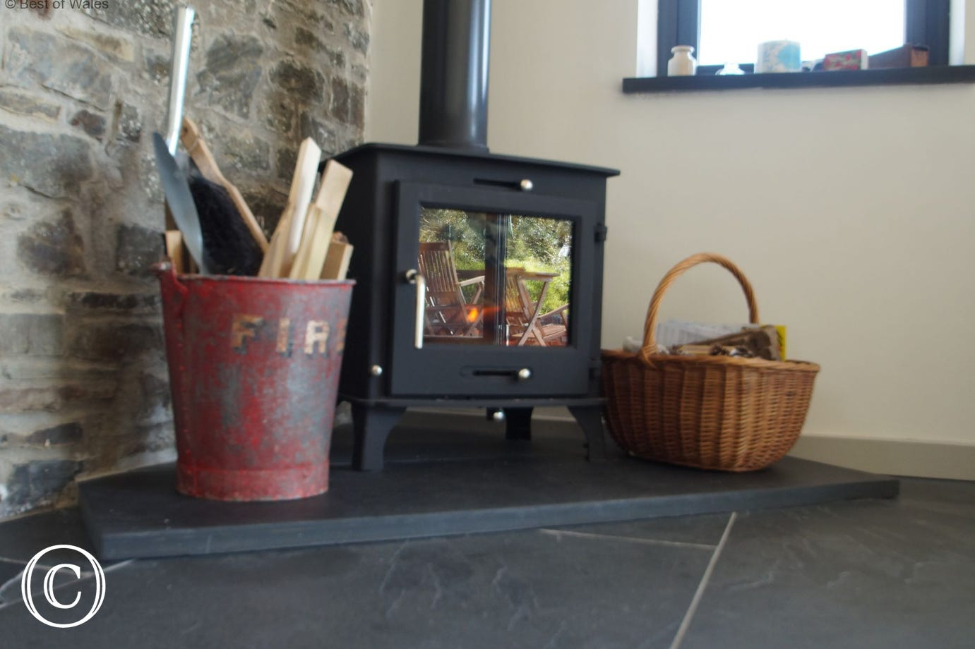 Enjoy a cosy night on the sofa in front of a welcoming woodburner