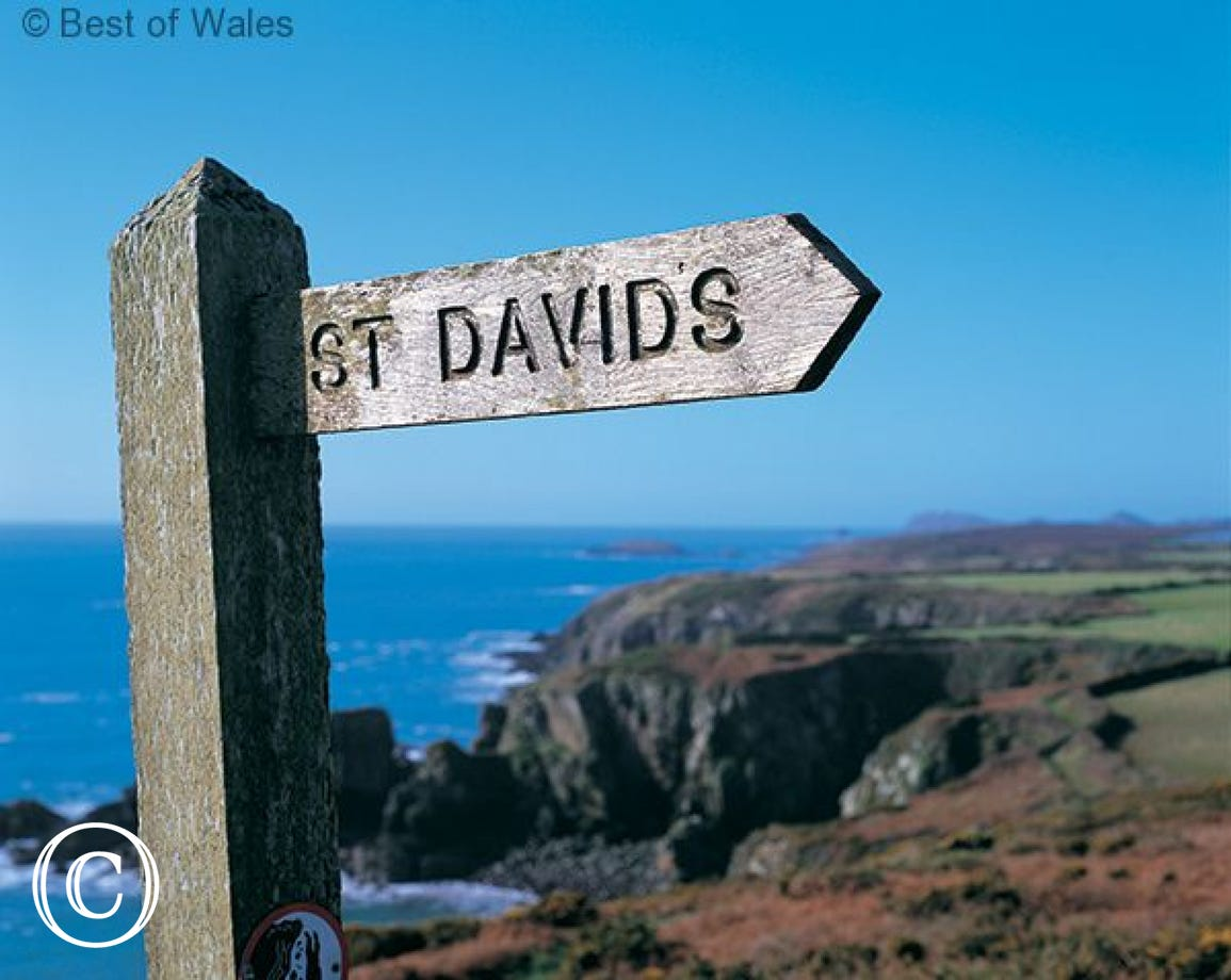 Only yards from the Pembrokeshire coastal path