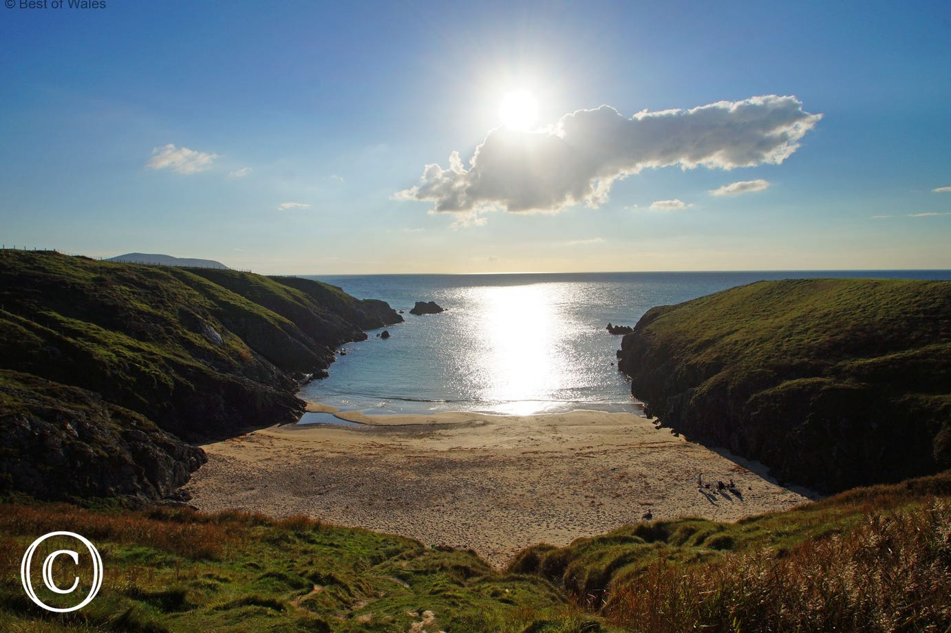 Porth Iago - a hidden cove less than a mile from your farmhouse